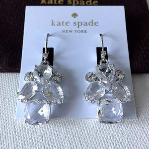 New Kate Spade make me blush chandelier earrings